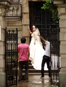 Strangely enough, in China it is custom to take wedding photos a whole year before the big day!
