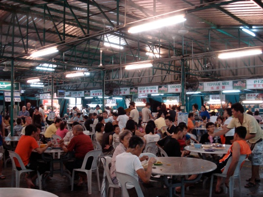 A *HUGE* hawker centre on Tanjong Tokong