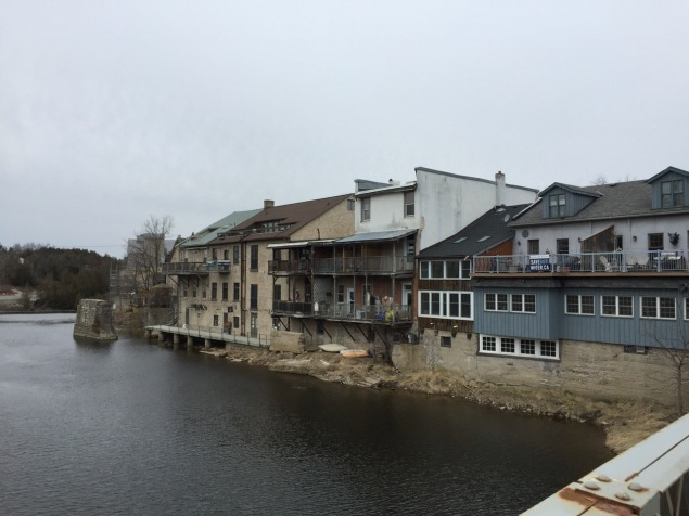 The old river front properties have now become bars, restaurants, and B&Bs